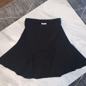 Parker black flare mini skirt